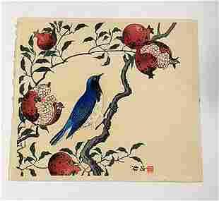 Koson/ Shoson - Bird on a fruit branch