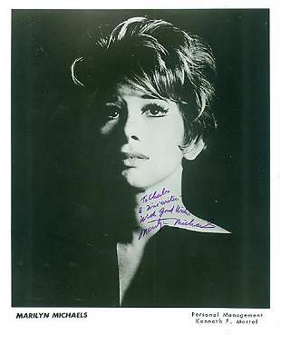 Marilyn Michaels - 8 x 10 Signed Photograph w/COA