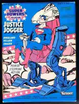 RARE DC COMICS SUPER POWERS JUSTICE JOGGER VEHICLE