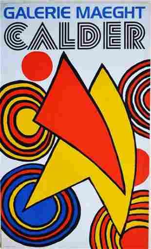"Alexander Calder - ""Galerie Maeght Original Lithograph"
