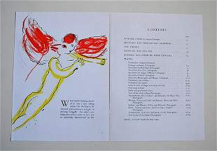 """MARC CHAGALL """"SKETCH OF THE RED ANGEL"""" LITHOGRAPH"""