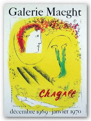 MARC CHAGALL GALERIE MAEGHT EXHIBITION POSTER-1969-1970