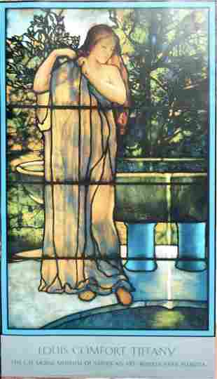 """Louis Comfort Tiffany - """"Young Woman At A Fountain"""""""