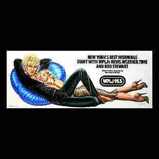 Rod Stewart - WPLJ 95.5 - 1979 Promo Poster