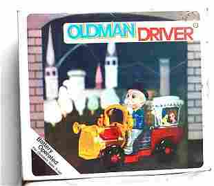 OLDMAN DRIVER BATTERY OPERATED CAR AND FIGURE SET