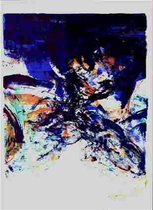 ZAO WOU-KI SAN LAZZARO vintage original lithograph