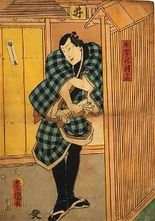 KUNISADA - JAPANESE WOODBLOCK PRINT (ACTOR)