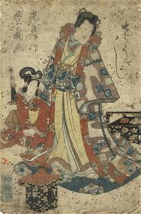 Original Edo era Japanese Woodblock Print
