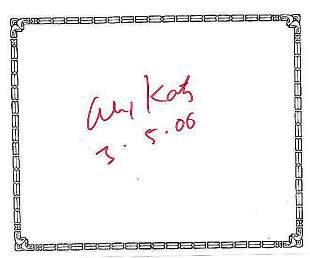 Alex Katz - Signed bookplate w/COA