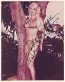 Mamie Van Doren- Color Glossy signed 8 x 10 photograph