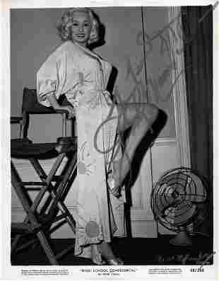 Mamie Van Doren - 8 x 10 Signed Photograph w/COA