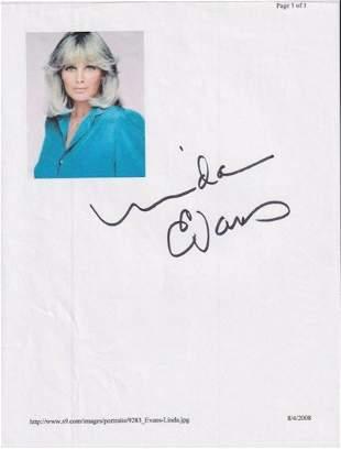 Linda Evas - 8.5 x 11 Signed Photograph w/COA