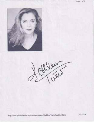 Kathleen Turner - 8.5 x 11 Signed Photograph w/COA