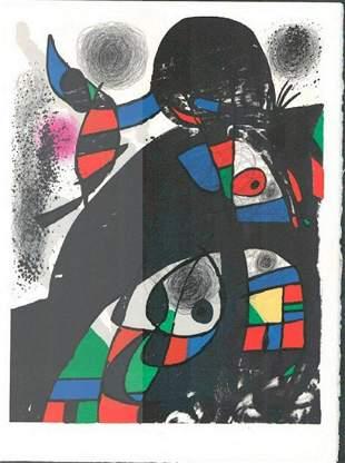 MIRO HOMAGE TO SAN LAZZARO vintage original lithograph