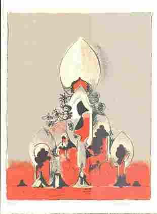 SUTHERLAND SAN LAZZARO vintageoriginal lithograph