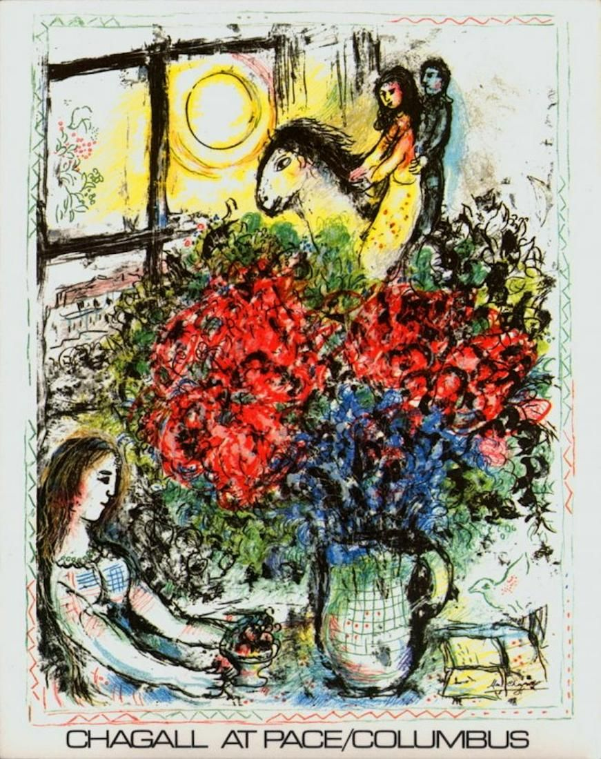 MARC CHAGALL EXHIBITION PRINT AT PACE/COLUMBUS