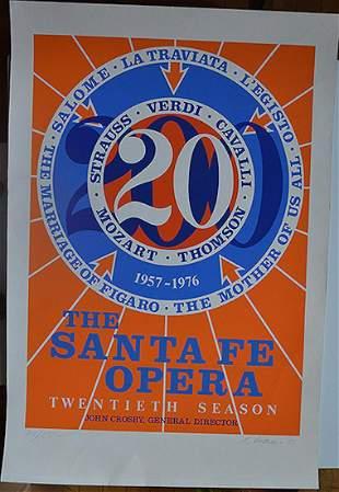 "ROBERT INDIANA ""THE SANTA FE OPERA"" '76"