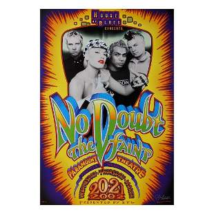 No Doubt - 2002 Signed Concert Poster