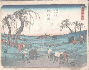 "HIROSHIGE ""WORKING MEN AND HORSES"""