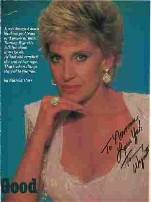 Tammy Wynette - 8 x 11 Signed Magazine Photograph w/COA