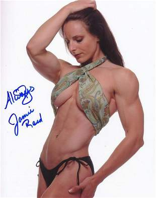 Jamie Reed- Color Sexy signed 8 x 10 photograph w/ 2