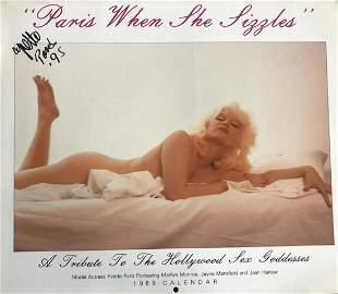 Yvette Paris- Signed claendar from 1980 w/COA