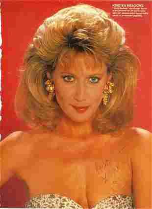 Kristen Meadows- 8x10.75 Signed color photograph w/COA