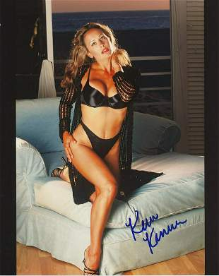 Kim Kanner- 8 x 10 Color sexy signed photograph w/COA