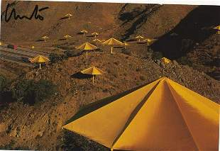 Christo- 6 x 4 Signed picture postcard of some
