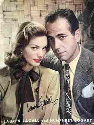 Lauren Bacall- 10.5 x 14 Large color vintage magazine