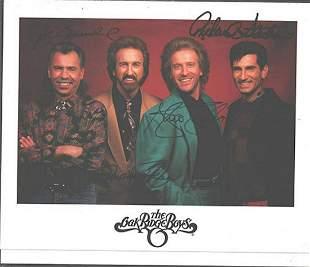 The Oak Ridge Boys - 8 x 10 Signed Photograph w/COA