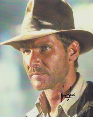 HARRISON FORD SIGNED 8 X 10 PHOTOGRAPH