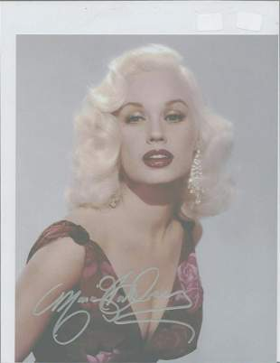 Mamie Van Doren - 8 x 10 Signed photograph