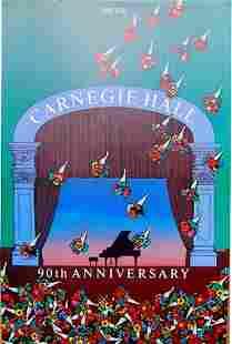 MILTON GLASER CARNEGIE HALL 90th ANIVERSARY 1891-1981