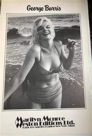 """GEORGE BARRIS """"MARILYN MONROE"""" POSTER. POSTER POSTER."""