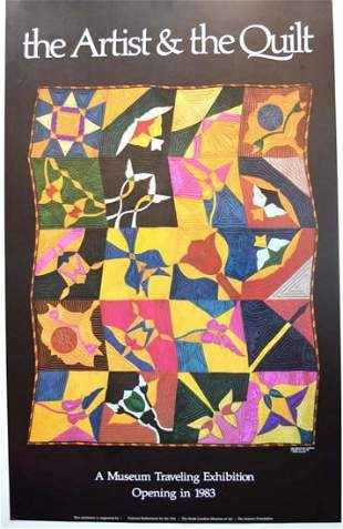 """""""THE ARTIST & THE QUILT"""" EXHIBITION POSTER"""