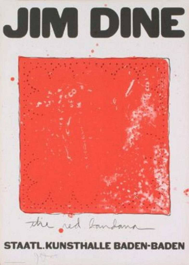 JIM DINE Title: THE RED BANDANA HAND SIGNED Lithograph