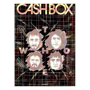 The Who - Cashbox - 1978 Newspaper Magazine