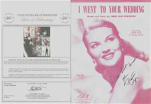 Patti Page - Signed 9 x 12 Vintage Music Sheet w/COA