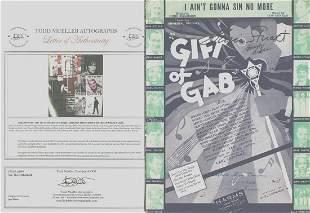 Gloria Stuart - Signed 9 x 12 Vintage Music Sheet w/COA