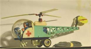 CLOCK WORK CHINESE HELICOPTER WITH FLEXIBLE MONORAIL