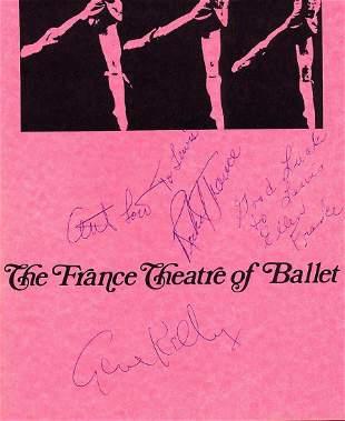 Rare Gene Kelly Etc- Sgined France Theatre of Ballet