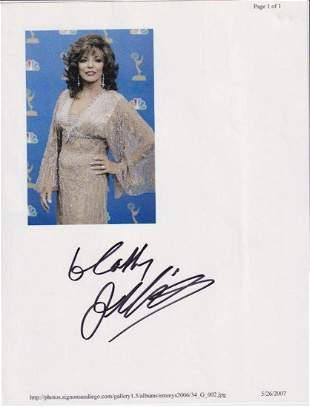 Joan Collins - 8.5 x 11 Signed Photograph w/COA