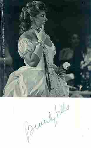 Beverly Sills - 5 x 4.5 Signed Photograph w/COA