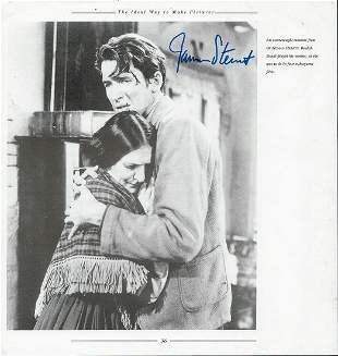 James Stewart - 8 x 10 Signed Photograph w/COA