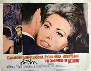 Sophia Loren- 14 X 11 Vintage Lobby Card signed w/COA