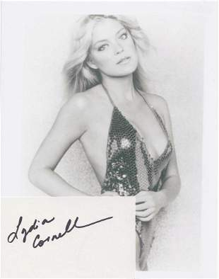 Lydia Cornell - 5 x 3 Signed Index Card w/COA
