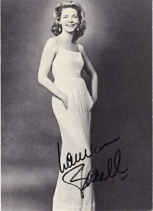 Lauren Bacall- 5 x 7 Signed Card w/COA