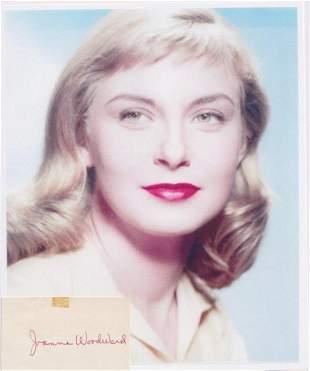 Joanne Woodward - 3.5 x 2 Signed Card w/COA
