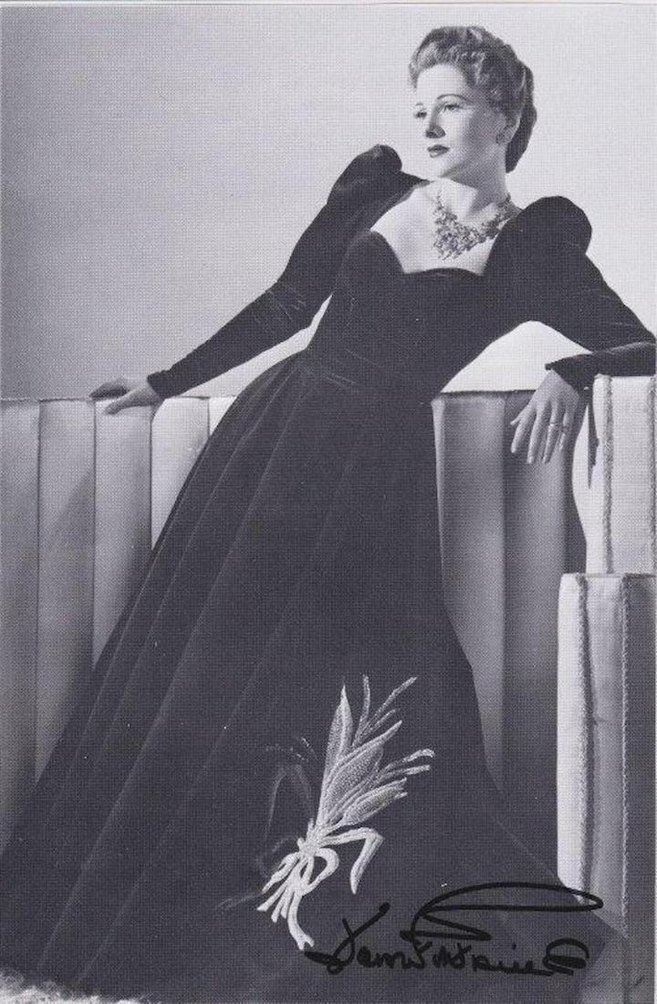 Joan Fontaine - 5.5 x 8.5 Signed Photograph w/COA